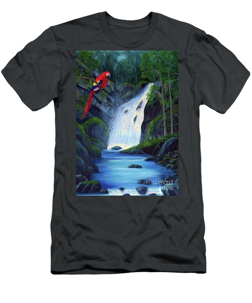 Rain Forest Macaws Men's T-Shirt (Slim Fit) by Stanton Allaben