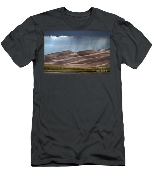 Rain On The Great Sand Dunes Men's T-Shirt (Slim Fit) by Catherine Sherman