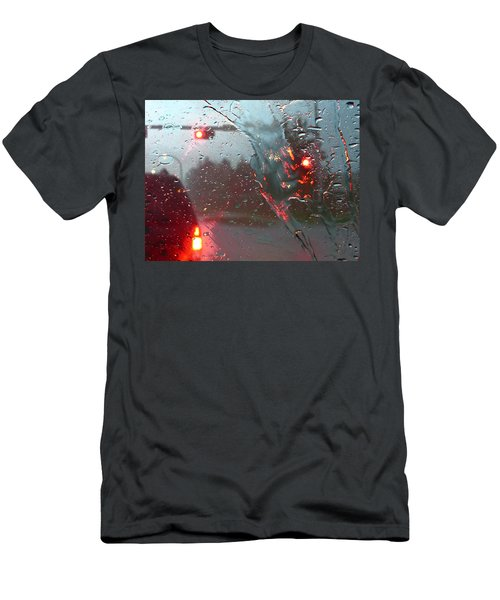 Rain Men's T-Shirt (Slim Fit) by Rhonda McDougall