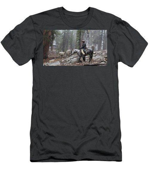 Rain Riding Men's T-Shirt (Slim Fit) by Diane Bohna