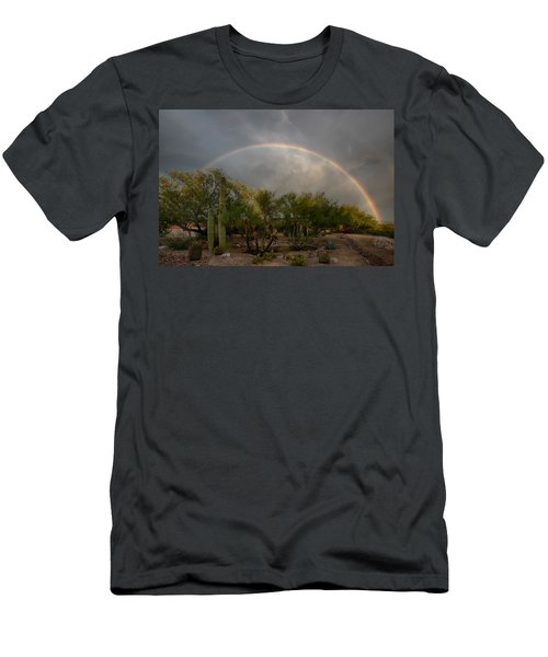 Men's T-Shirt (Athletic Fit) featuring the photograph Rain Then Rainbows by Dan McManus