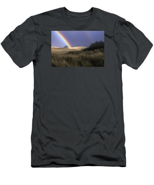 Rainbow And Dunes Men's T-Shirt (Athletic Fit)
