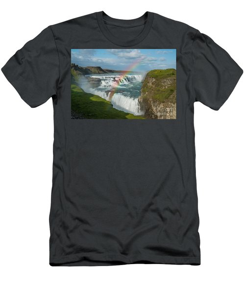 Rainbow At Gullfoss Iceland Men's T-Shirt (Athletic Fit)