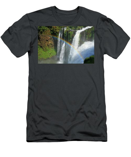 Rainbow At Iguazu Falls Men's T-Shirt (Athletic Fit)