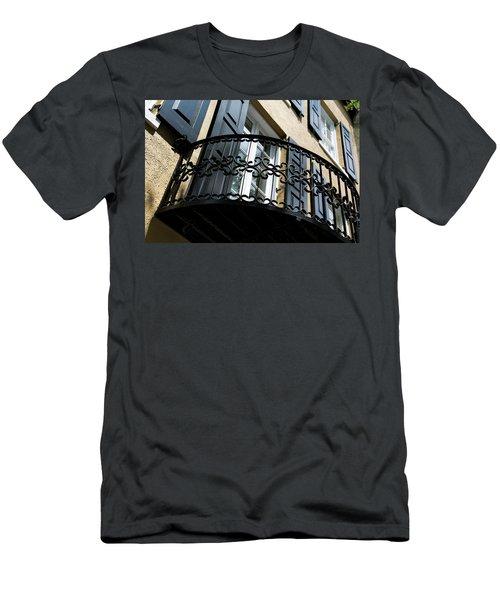 Rainbow Balcony Men's T-Shirt (Athletic Fit)
