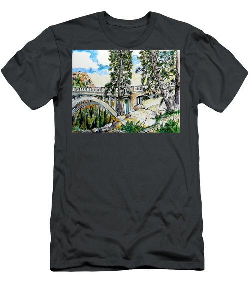 Rainbow Bridge At Donner Summit Men's T-Shirt (Athletic Fit)