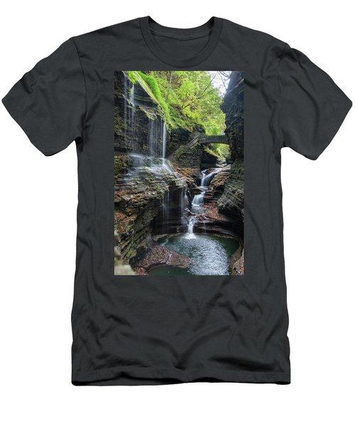 Rainbow Falls, Ny Men's T-Shirt (Athletic Fit)