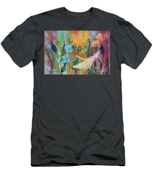 Men's T-Shirt (Athletic Fit) featuring the painting Rainbow Flight by Robin Maria Pedrero