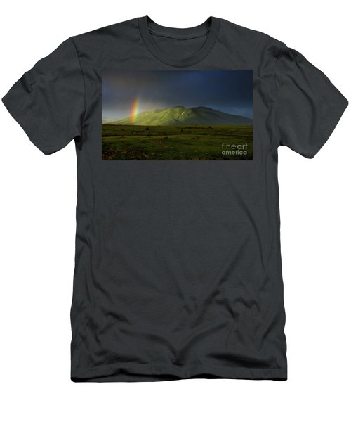 Rainbow Over Mount Ara After Storm, Armenia Men's T-Shirt (Athletic Fit)