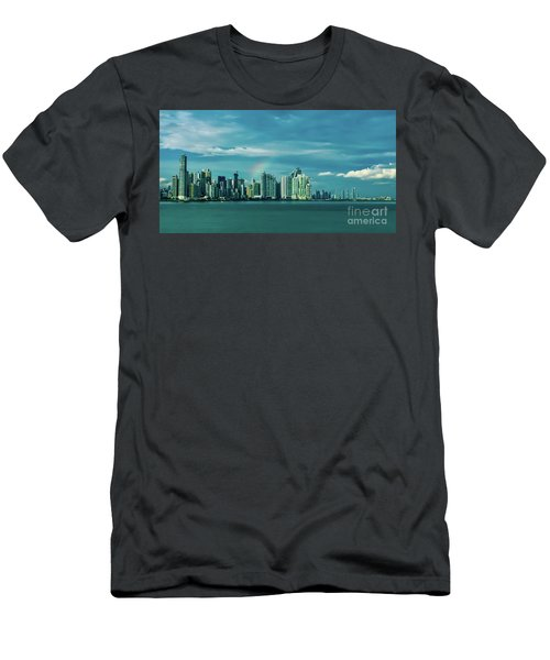 Rainbow Over Panama City Men's T-Shirt (Athletic Fit)