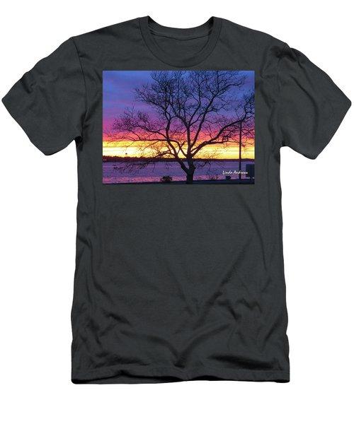Rainbow Sunset Men's T-Shirt (Slim Fit) by Robert Henne
