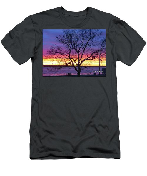 Rainbow Sunset Men's T-Shirt (Athletic Fit)
