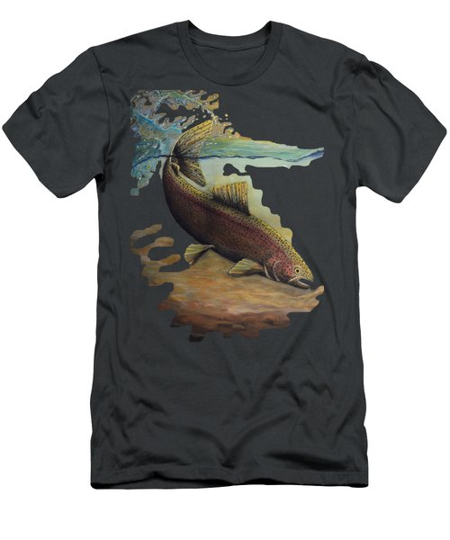 Rainbow Trout Trans Men's T-Shirt (Slim Fit) by Kimberly Benedict