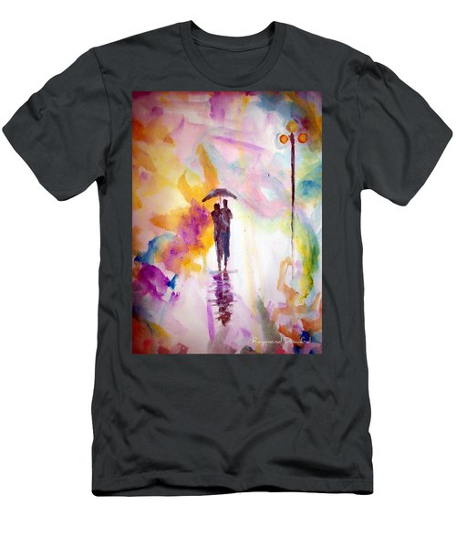 Men's T-Shirt (Slim Fit) featuring the painting Rainbow Walk Of Love by Raymond Doward