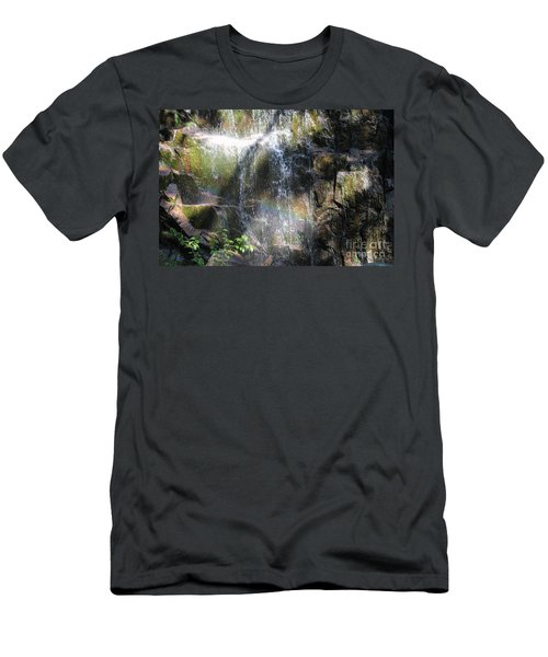 Rainbow Waterfall Men's T-Shirt (Athletic Fit)