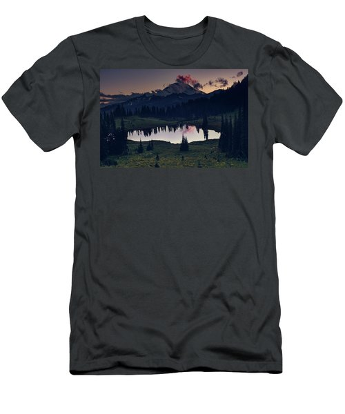 Men's T-Shirt (Athletic Fit) featuring the photograph Rainier Color by Gene Garnace