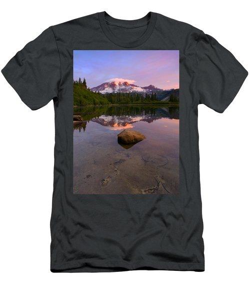 Rainier Dawn Breaking Men's T-Shirt (Athletic Fit)