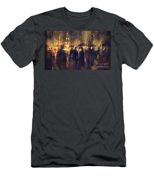 Raining Men's T-Shirt (Athletic Fit)