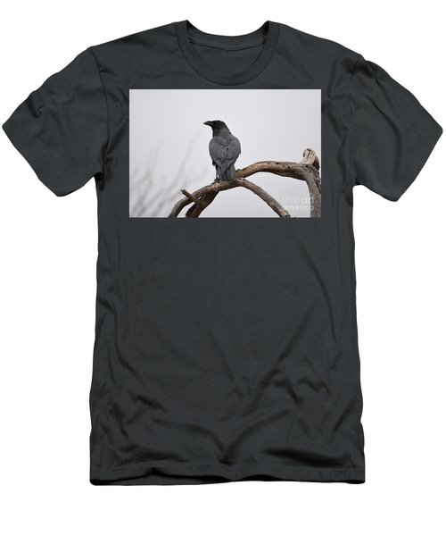 Rainy Day Raven Men's T-Shirt (Athletic Fit)
