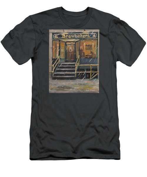 Rainy November Afternoon Coffee Men's T-Shirt (Slim Fit) by Jack Skinner