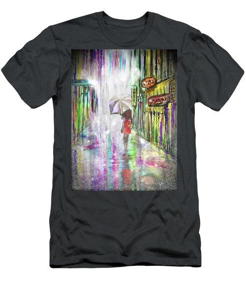 Rainy Paris Day Men's T-Shirt (Athletic Fit)