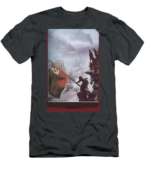 Raising The Soviet Flag  On The Reichstag Building Berlin Germany May 1945 Men's T-Shirt (Athletic Fit)