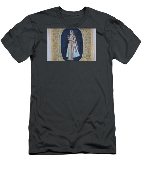 Men's T-Shirt (Slim Fit) featuring the painting Rajasthani Queen by Vikram Singh
