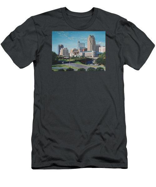 Raleigh Downtown Realistic Men's T-Shirt (Athletic Fit)