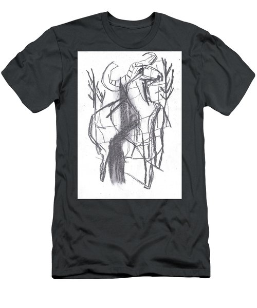 Ram In A Forest Men's T-Shirt (Athletic Fit)