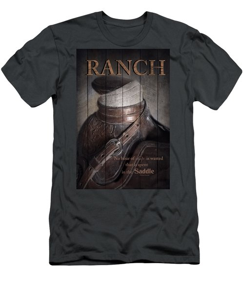 Men's T-Shirt (Slim Fit) featuring the photograph Ranch by Robin-Lee Vieira