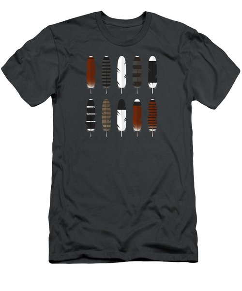 Raptor Feathers - Panoramic Men's T-Shirt (Slim Fit)