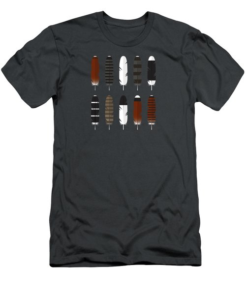 Raptor Feathers - Square Men's T-Shirt (Slim Fit)