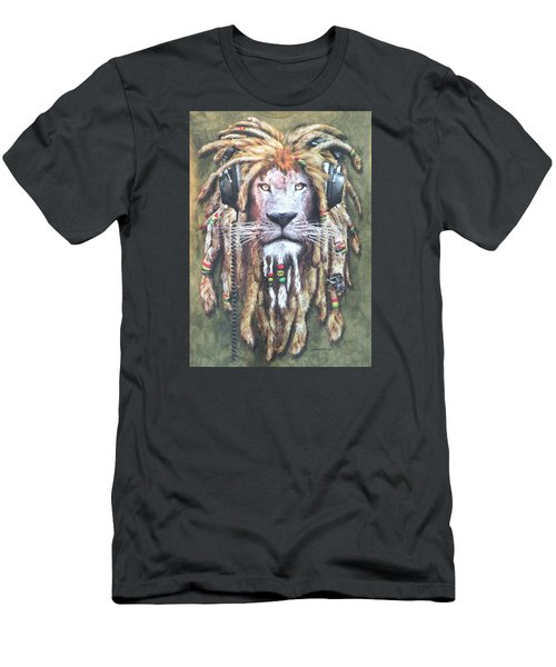 Rasta Lion Men's T-Shirt (Athletic Fit)