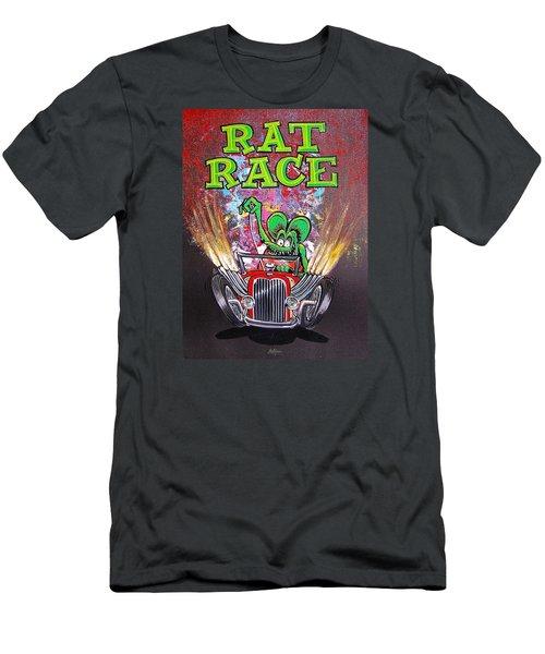 Rat Race Men's T-Shirt (Slim Fit) by Alan Johnson