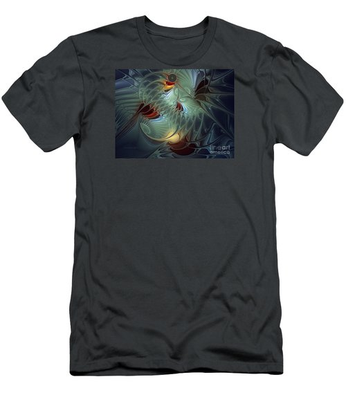 Men's T-Shirt (Slim Fit) featuring the digital art Reach For The Moon by Karin Kuhlmann