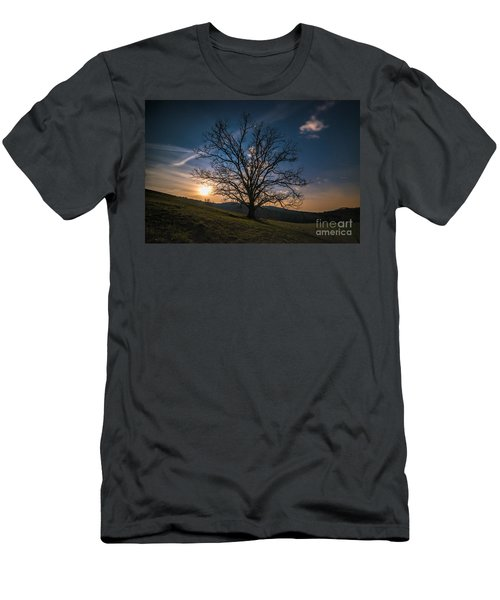 Reaching For The Moon Men's T-Shirt (Slim Fit) by Robert Loe