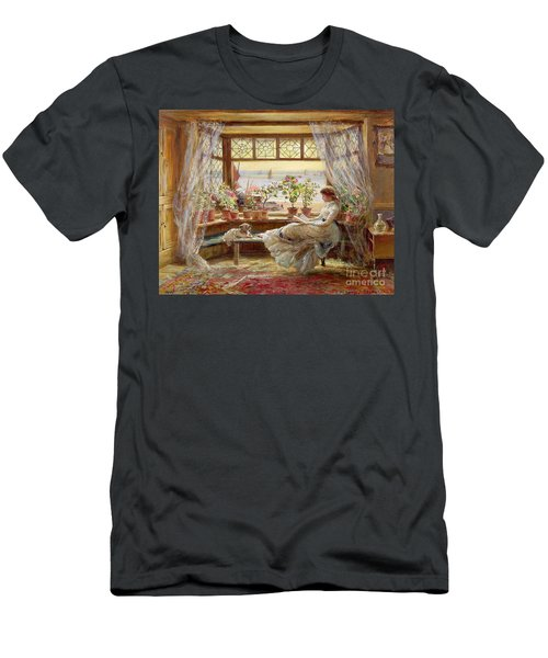 Reading By The Window Men's T-Shirt (Athletic Fit)