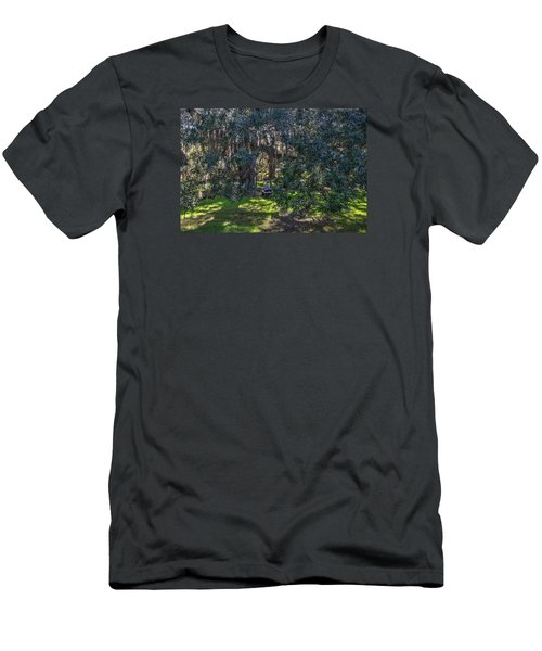 Reading In The Shade Of Live Oaks Men's T-Shirt (Athletic Fit)