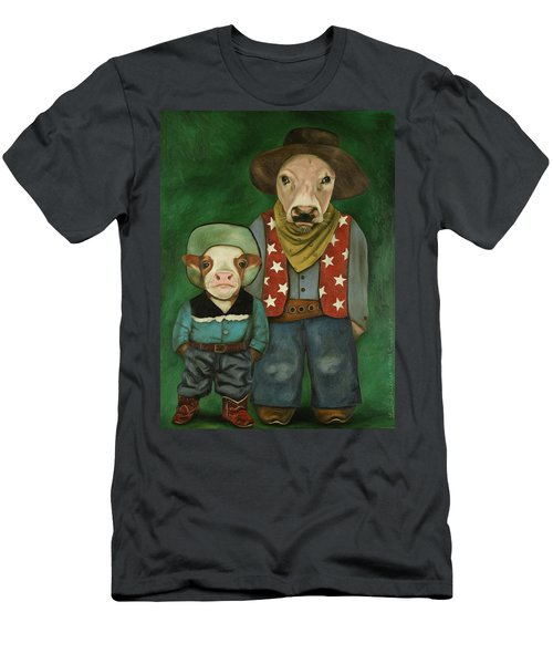 Real Cowboys 3 Men's T-Shirt (Slim Fit) by Leah Saulnier The Painting Maniac