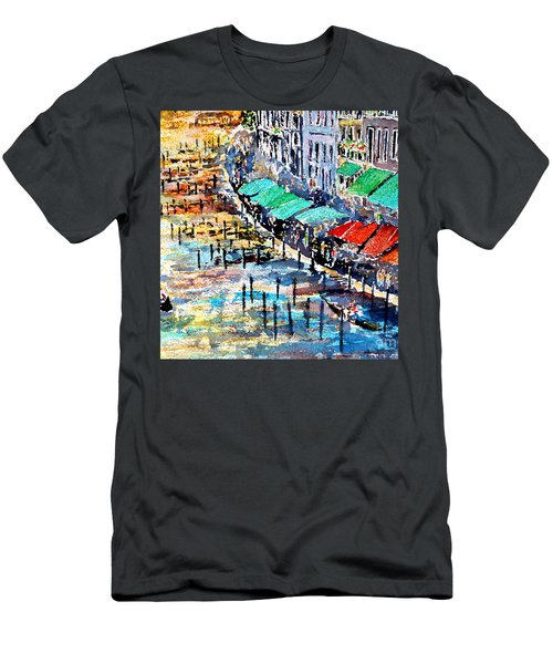 Men's T-Shirt (Slim Fit) featuring the painting Recalling Venice 02 by Alfred Motzer