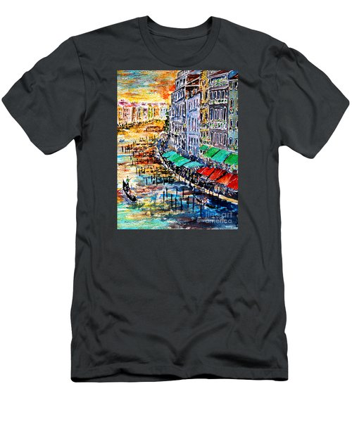 Men's T-Shirt (Slim Fit) featuring the painting Recalling Venice 03 by Alfred Motzer