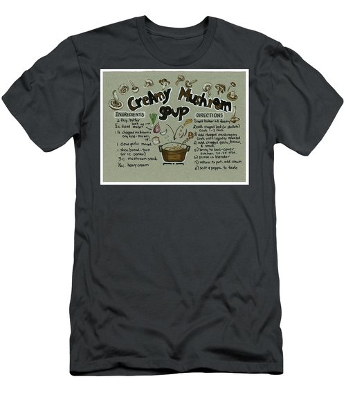 Recipe Mushroom Soup Men's T-Shirt (Athletic Fit)