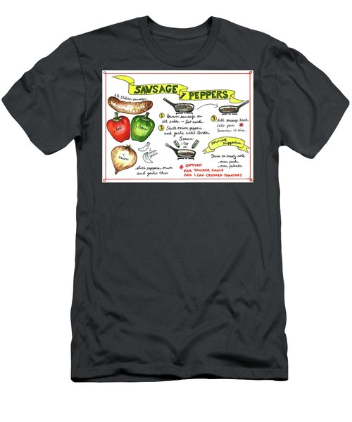 Recipe Sausage And Peppers Men's T-Shirt (Athletic Fit)