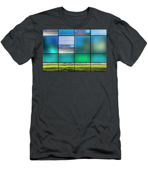 Rectangles Men's T-Shirt (Slim Fit) by Paul Wear