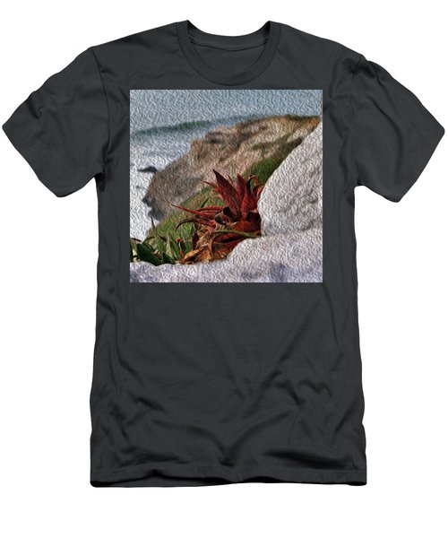 Red Aloe Vera By The Sea Men's T-Shirt (Athletic Fit)