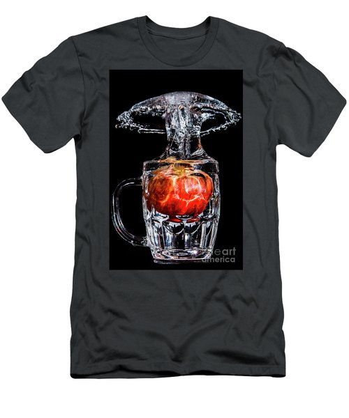 Men's T-Shirt (Athletic Fit) featuring the photograph Red Apple Splash by Ray Shiu
