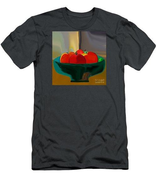 Men's T-Shirt (Slim Fit) featuring the digital art Red Apples Fruit Series by Haleh Mahbod