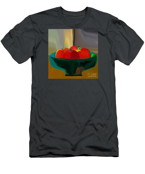 Red Apples Fruit Series Men's T-Shirt (Athletic Fit)