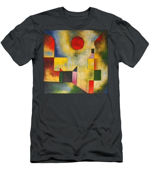 Red Balloon Men's T-Shirt (Slim Fit) by Paul Klee