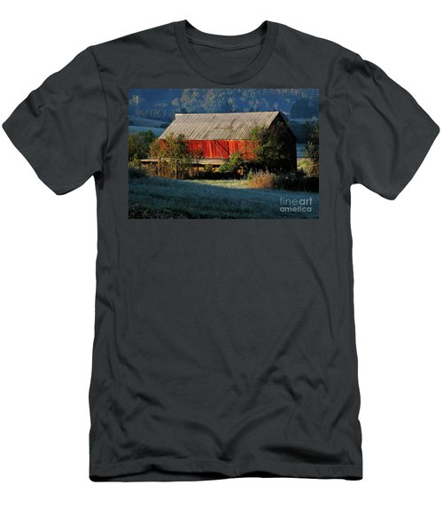 Men's T-Shirt (Slim Fit) featuring the photograph Red Barn by Douglas Stucky